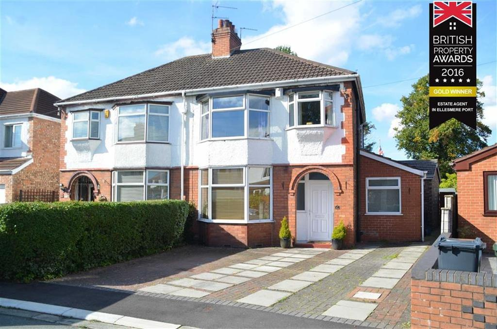 4 Bedrooms Semi Detached House for sale in Queens Avenue, Whitby, CH65