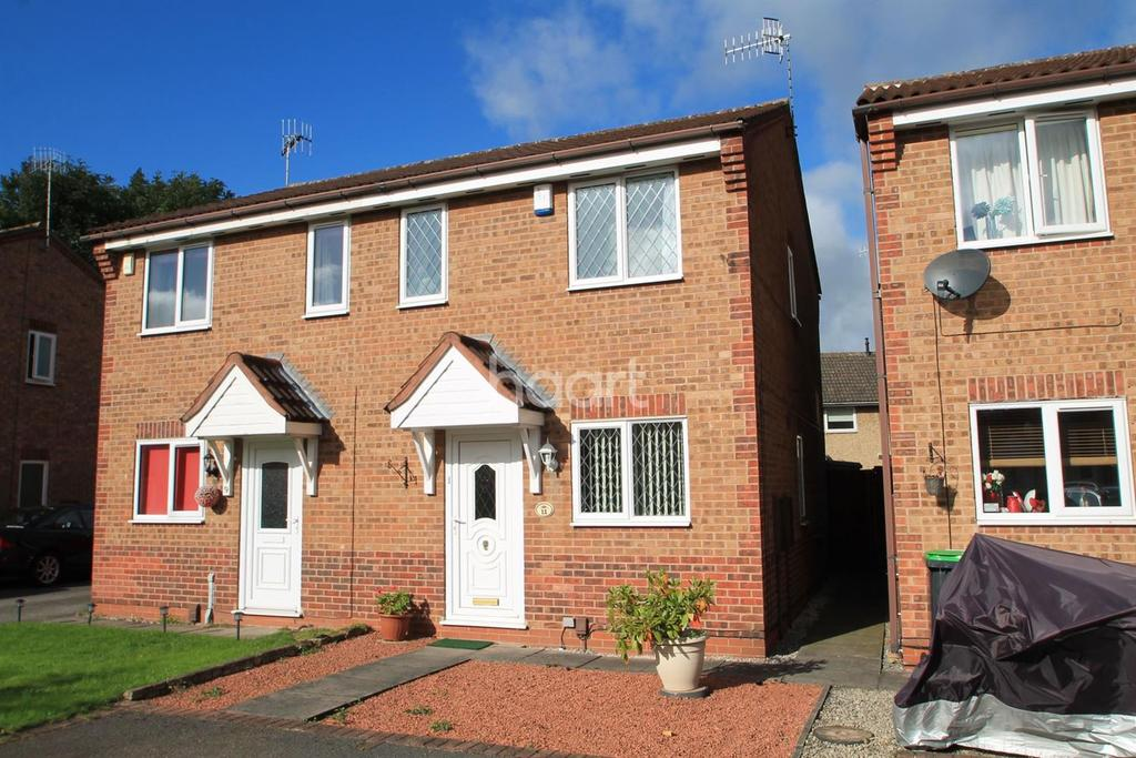 2 Bedrooms Semi Detached House for sale in Broomhill Park View, Hucknall