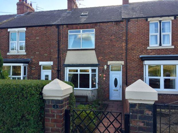 3 Bedrooms Terraced House for sale in WYLAM TERRACE, COXHOE, DURHAM CITY : VILLAGES EAST OF