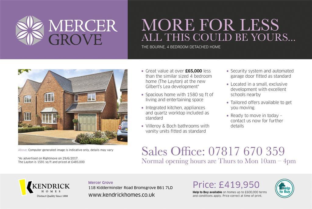 4 Bedrooms Detached House for sale in Kidderminster Road, Bromsgrove