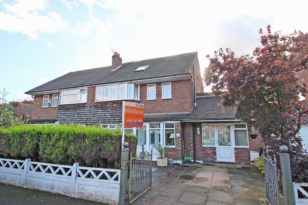 4 Bedrooms Semi Detached House for sale in Eddisbury Avenue, Flixton, Manchester, M41