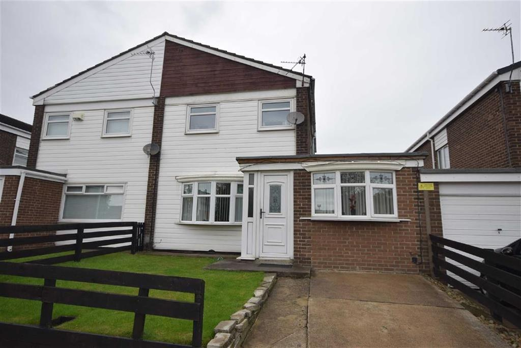 4 Bedrooms Semi Detached House for sale in Grindleford Court, South Shields