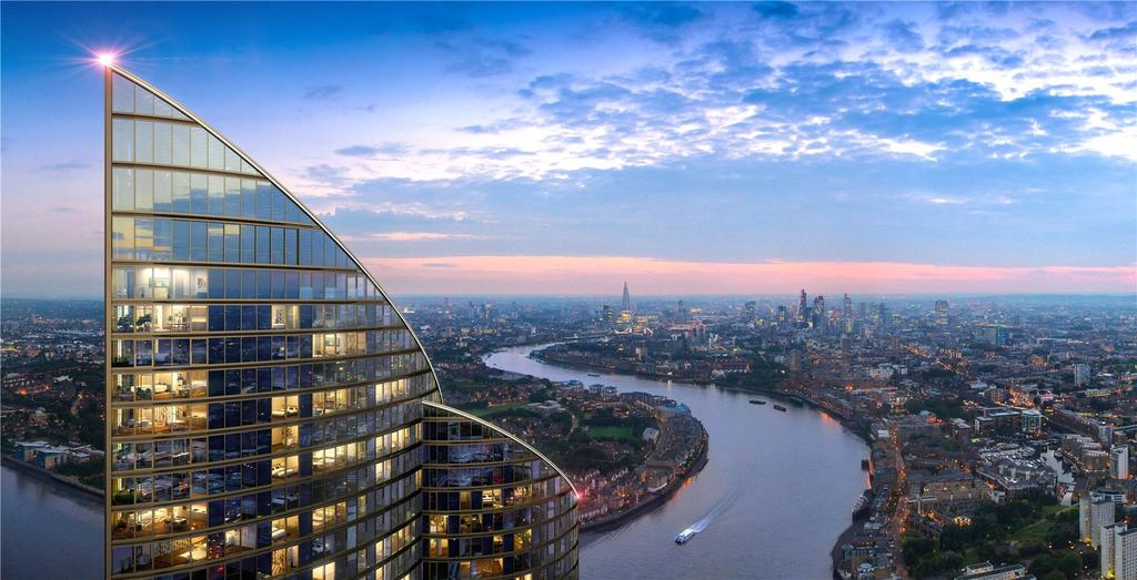 2 Bedrooms Flat for sale in The Spire, 2 Hertsmere Road, West India Quay, London
