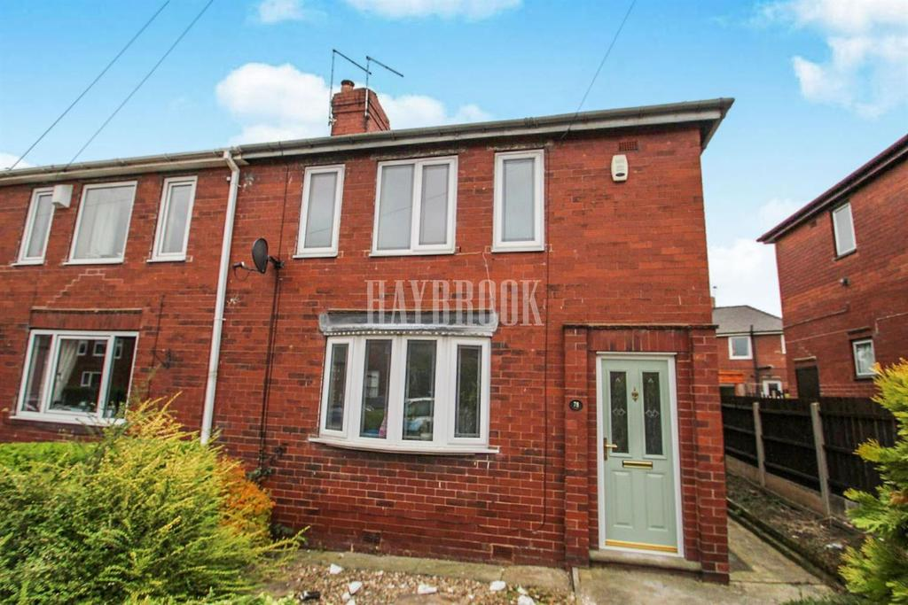 3 Bedrooms Semi Detached House for sale in Abbots Road, Lundwood