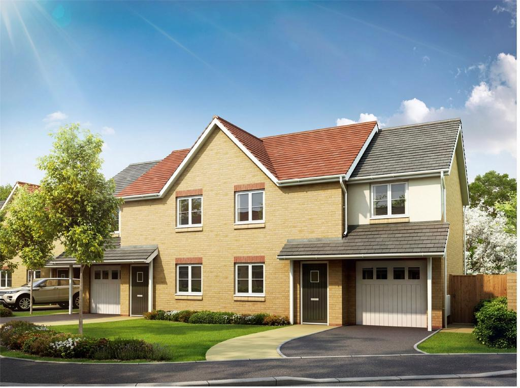 3 Bedrooms Semi Detached House for sale in Plot 1 The Coxwold, Olivers Heights, Blueberry Way