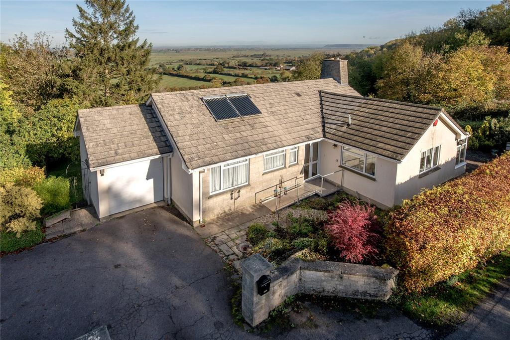 3 Bedrooms Detached Bungalow for sale in Cathanger Lane, Fivehead, Taunton, Somerset