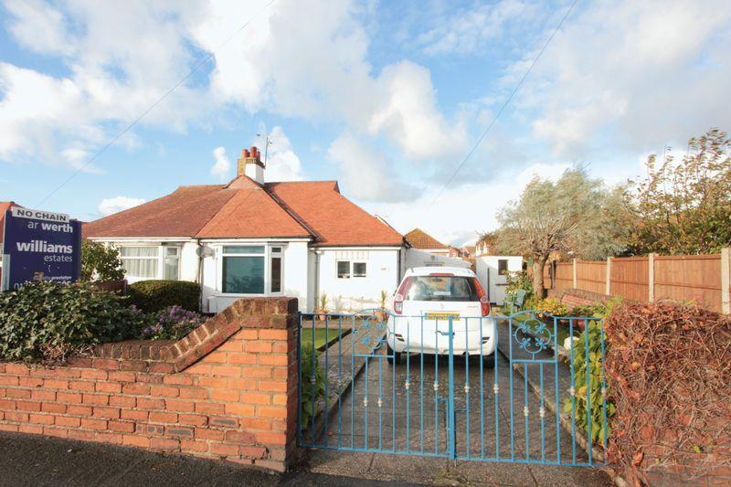 3 Bedrooms Semi Detached Bungalow for sale in Victoria Road, Prestatyn