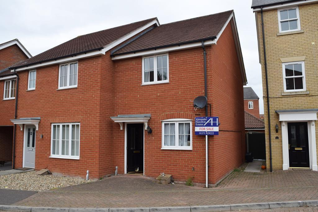 2 Bedrooms Semi Detached House for sale in Carus Crescent, Highwoods, Colchester, CO4 9FU