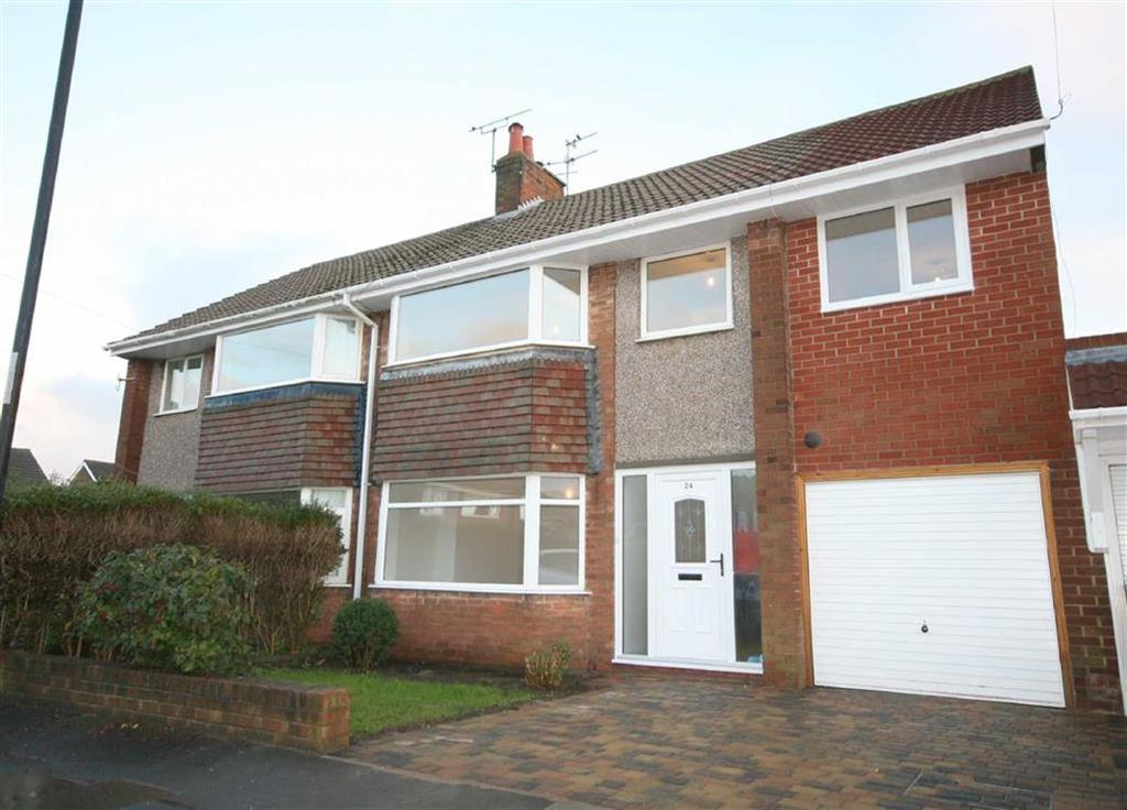 4 Bedrooms Semi Detached House for sale in Cresswell Close, Whitley Bay, Tyne And Wear, NE25