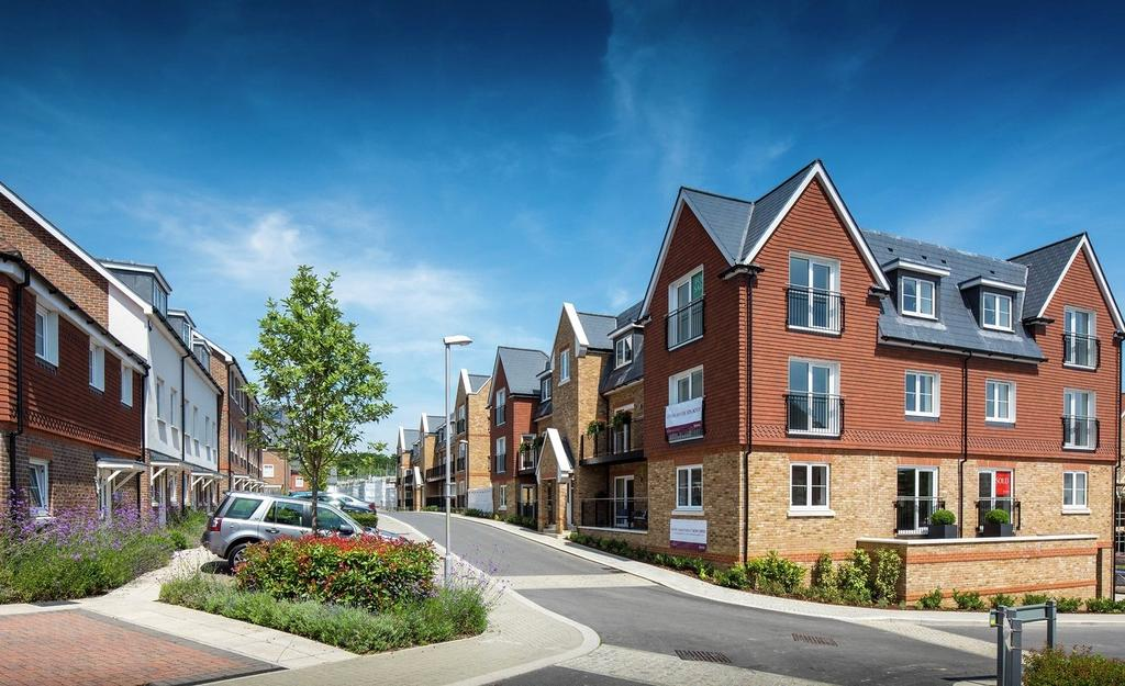 2 Bedrooms Flat for sale in 403 Elm House, Woodland Avenue, Ryewood, Dunton Green, TN14