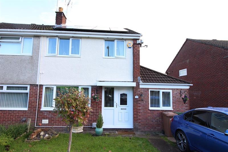 3 Bedrooms Semi Detached House for sale in Caldicot Court, Caerphilly
