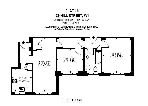 Floorplan: 761 sq ft