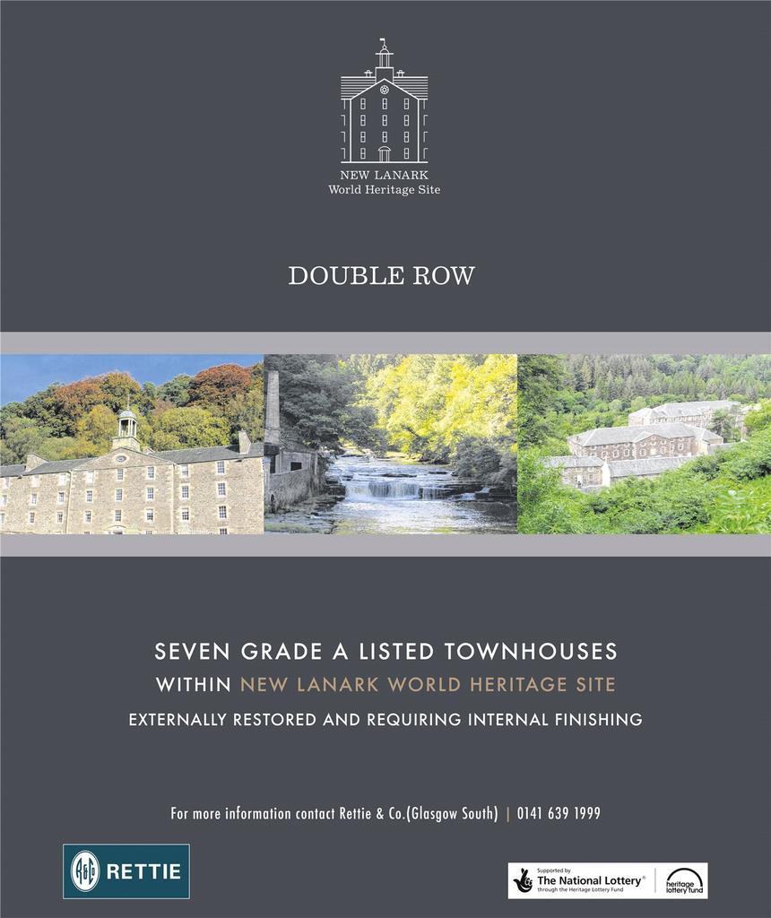 Terraced House for sale in Plot 3 Double Row Town Houses, New Lanark Road, Lanark, Lanarkshire