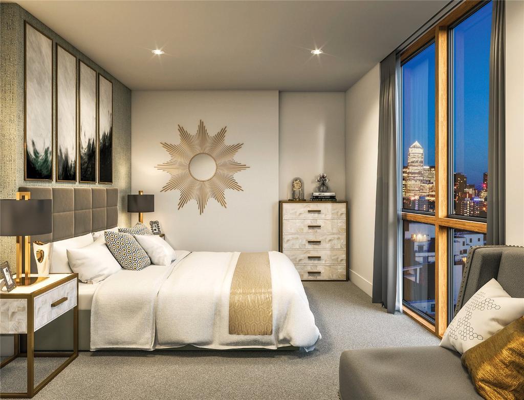 2 Bedrooms Flat for sale in Merchants Walk, Violet Road, London, E3
