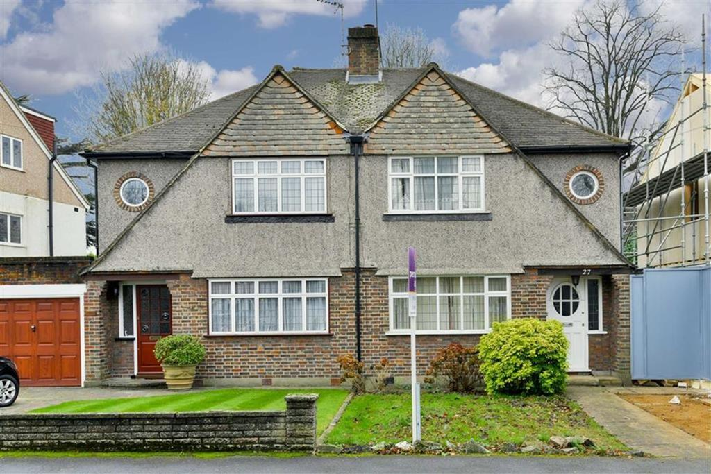 3 Bedrooms Semi Detached House for sale in Ewell Park Way, Stoneleigh, Surrey