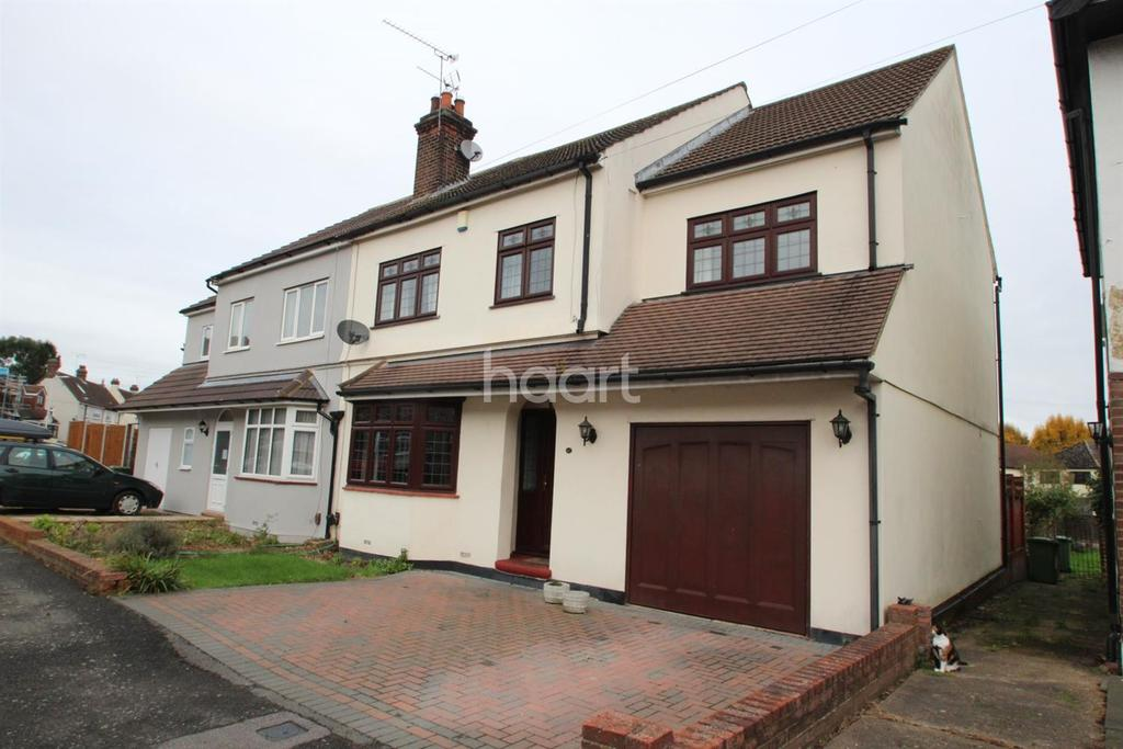 4 Bedrooms Semi Detached House for sale in Arundel Road, Harold Wood