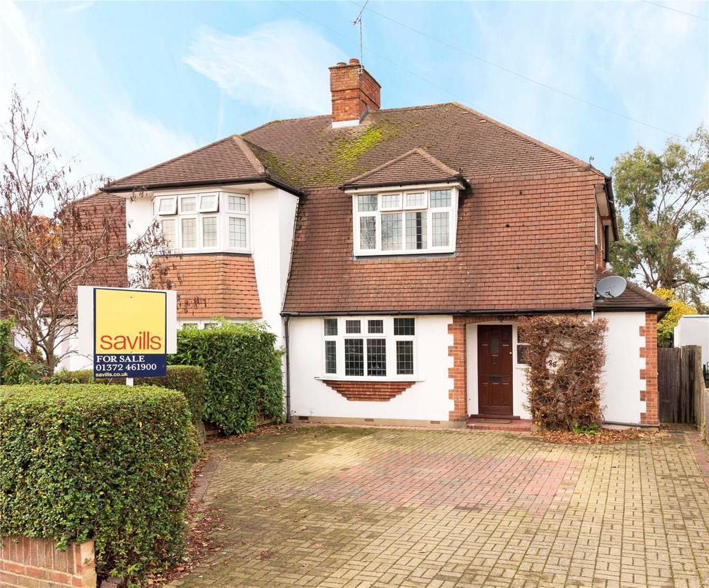 3 Bedrooms Semi Detached House for sale in Cranbrook Drive, Esher, Surrey, KT10