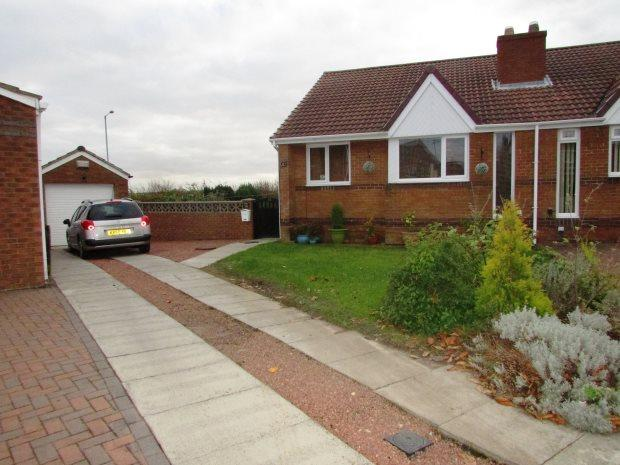 2 Bedrooms Semi Detached Bungalow for sale in FALMOUTH CLOSE, SEAHAM, SEAHAM DISTRICT