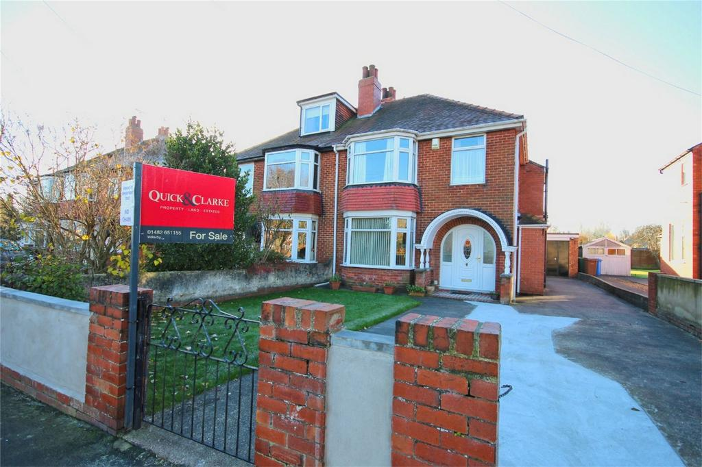 3 Bedrooms Semi Detached House for sale in Kingston Road, Willerby, Hull, East Riding of Yorkshire