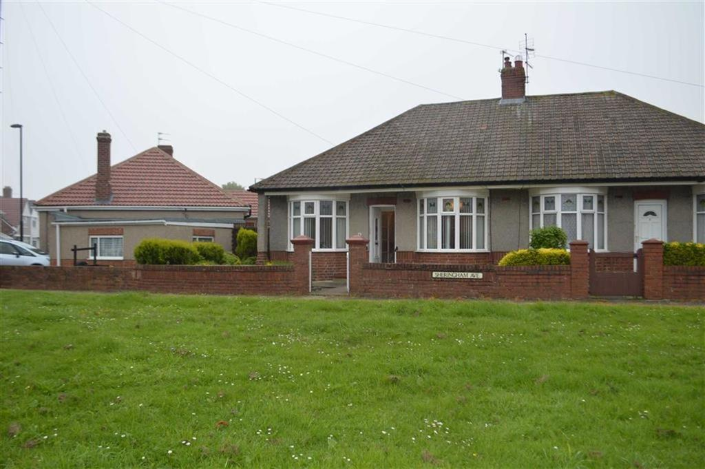 2 Bedrooms Semi Detached Bungalow for sale in Sherringham Avenue, North Shields