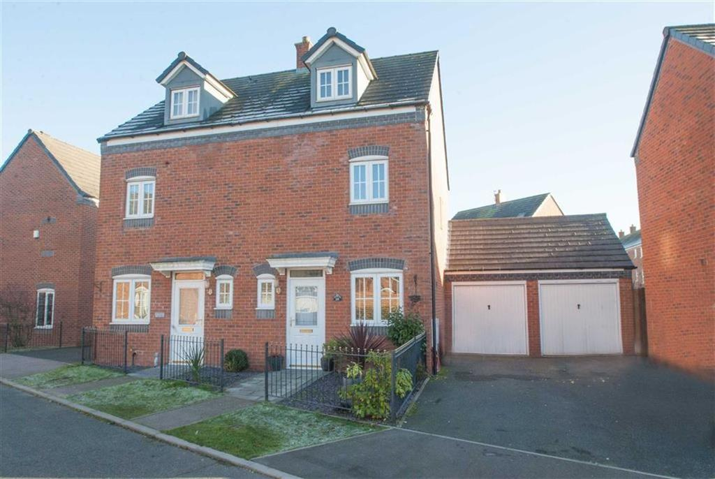 3 Bedrooms Semi Detached House for sale in Caterbanck Way, Lichfield, Staffordshire