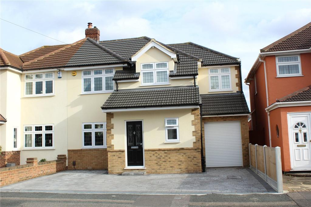 4 Bedrooms Semi Detached House for sale in Calbourne Avenue, Elm Park, RM12