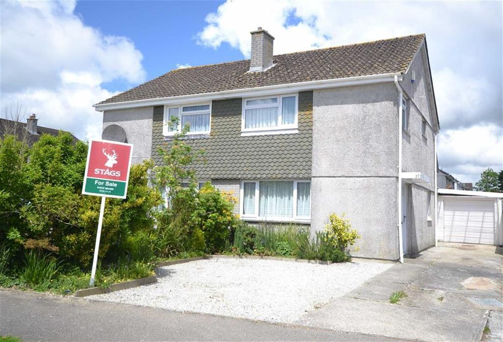 3 Bedrooms Semi Detached House for sale in Polstain Road, Threemilestone, Truro, Cornwall, TR3