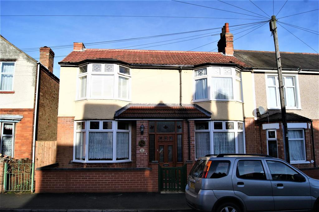 3 Bedrooms End Of Terrace House for sale in Holbrook Avenue, Rugby