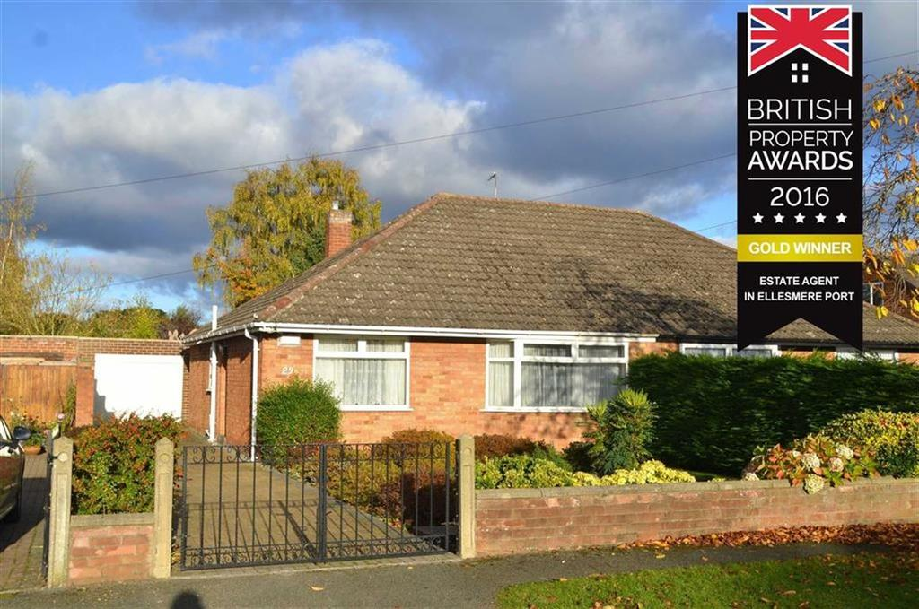 2 Bedrooms Semi Detached Bungalow for sale in Grange Crescent, Childer Thornton, CH66