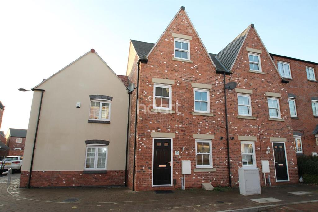 3 Bedrooms End Of Terrace House for sale in Nine Riggs Square, Birstall, Leicester