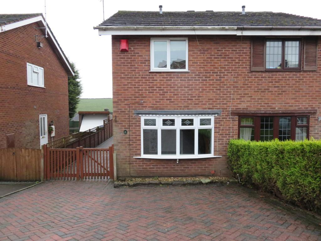 2 Bedrooms Semi Detached House for sale in Churchill Avenue, Cheddleton