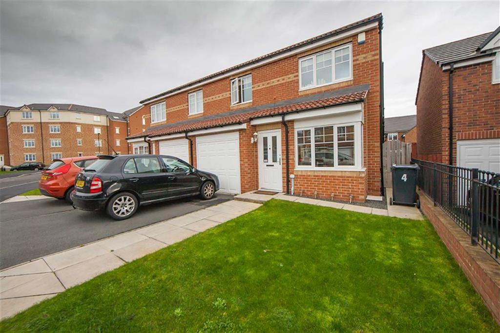 3 Bedrooms Semi Detached House for sale in Cawfields Close, Hadrian Village, Wallsend, NE28