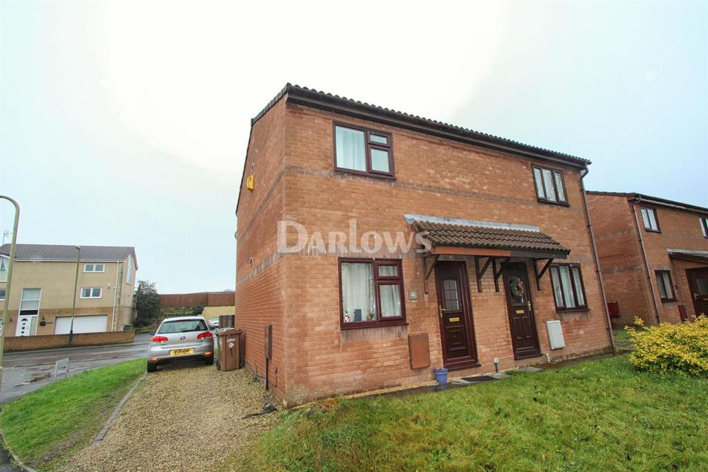 2 Bedrooms Semi Detached House for sale in Cae Rhos, Caerphilly,