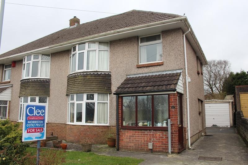 3 Bedrooms Semi Detached House for sale in Heol Ddu , Tirdeunaw, Swansea.