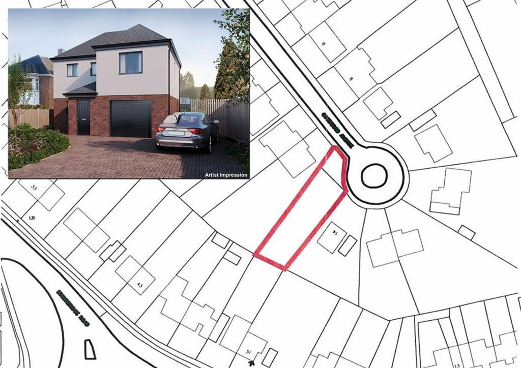 4 Bedrooms Land Commercial for sale in Building Plot, 14a, Goodwood Avenue, Low Town, Bridgnorth, Shropshire, WV15
