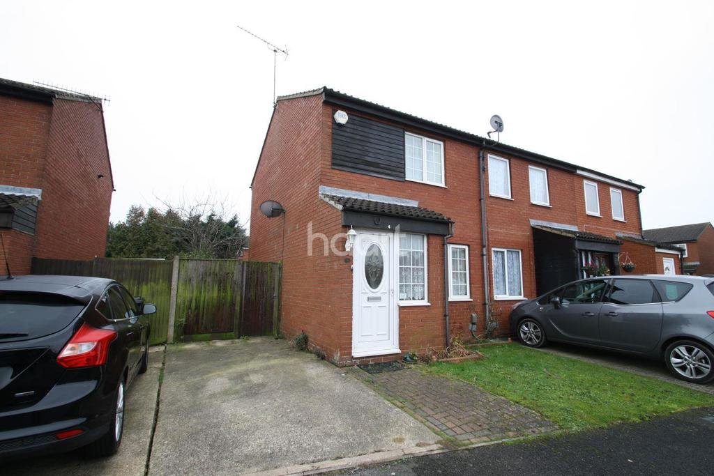 2 Bedrooms End Of Terrace House for sale in Sparrow Close, Luton, LU4 0XL