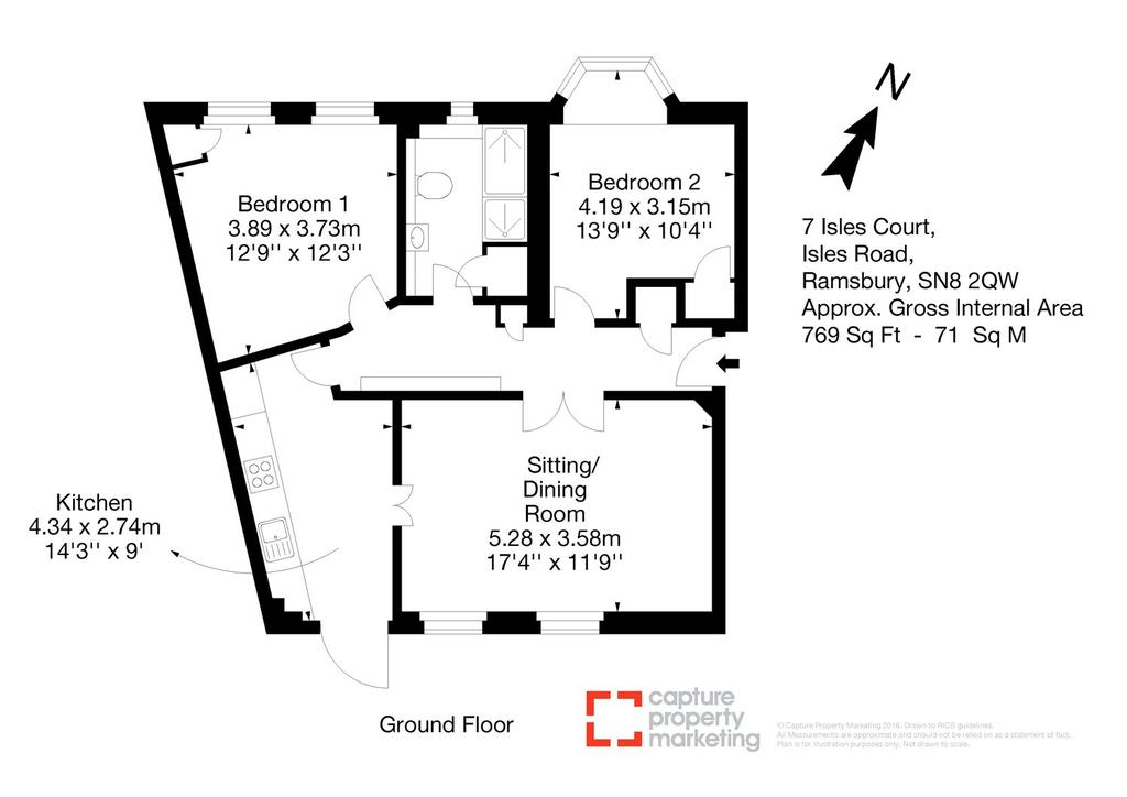 Isles court isles road ramsbury marlborough sn8 2 bed for Marlborough house floor plan