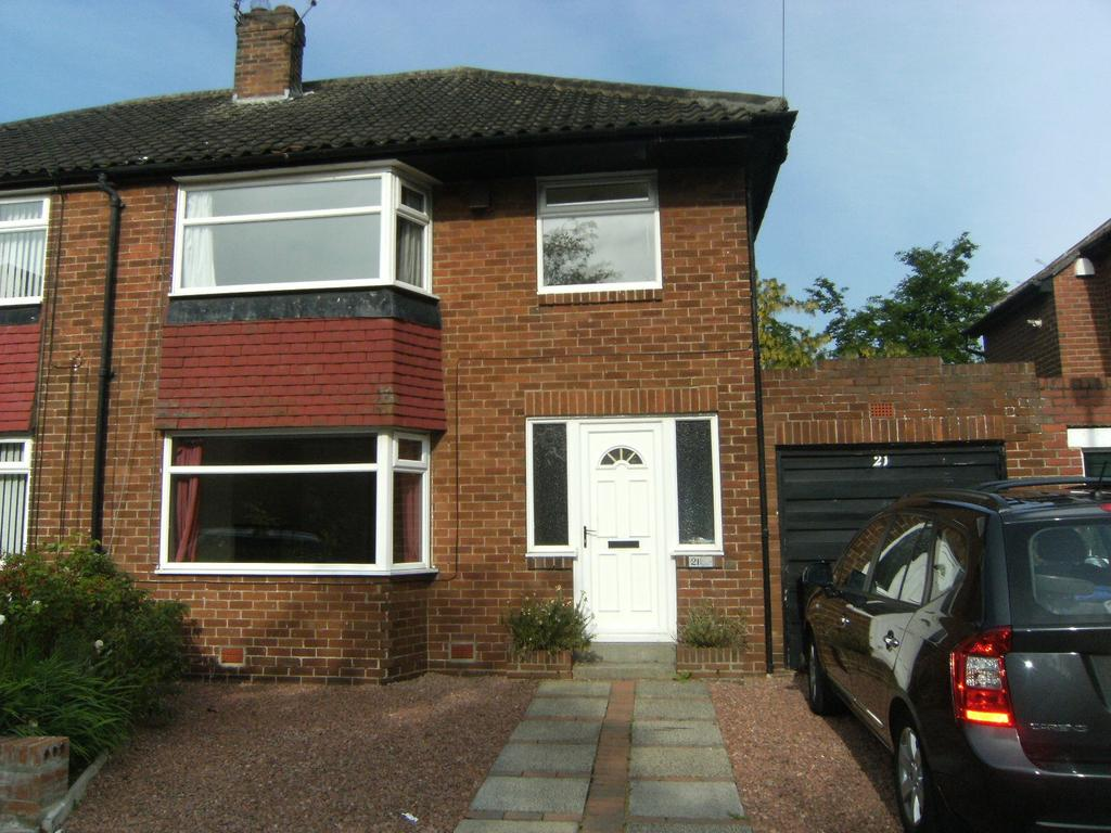 3 Bedrooms Semi Detached House for sale in Maywood Close, Gosforth