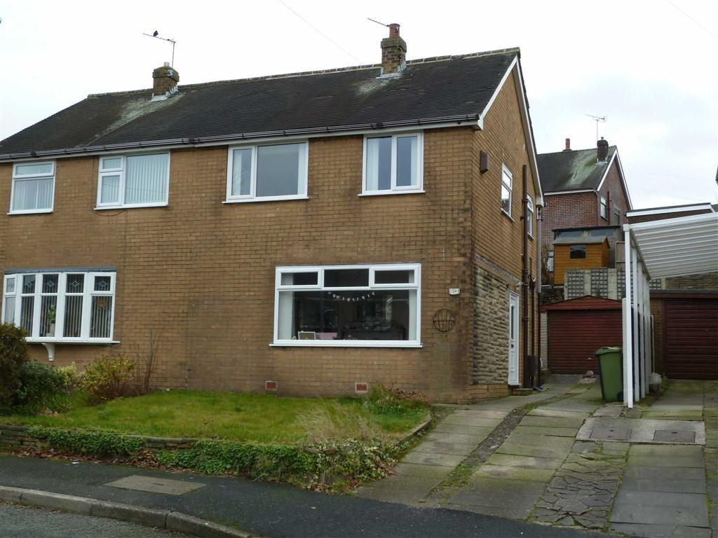 3 Bedrooms Semi Detached House for sale in Ashfield Crescent, Springhead, SADDLEWORTH, OL4