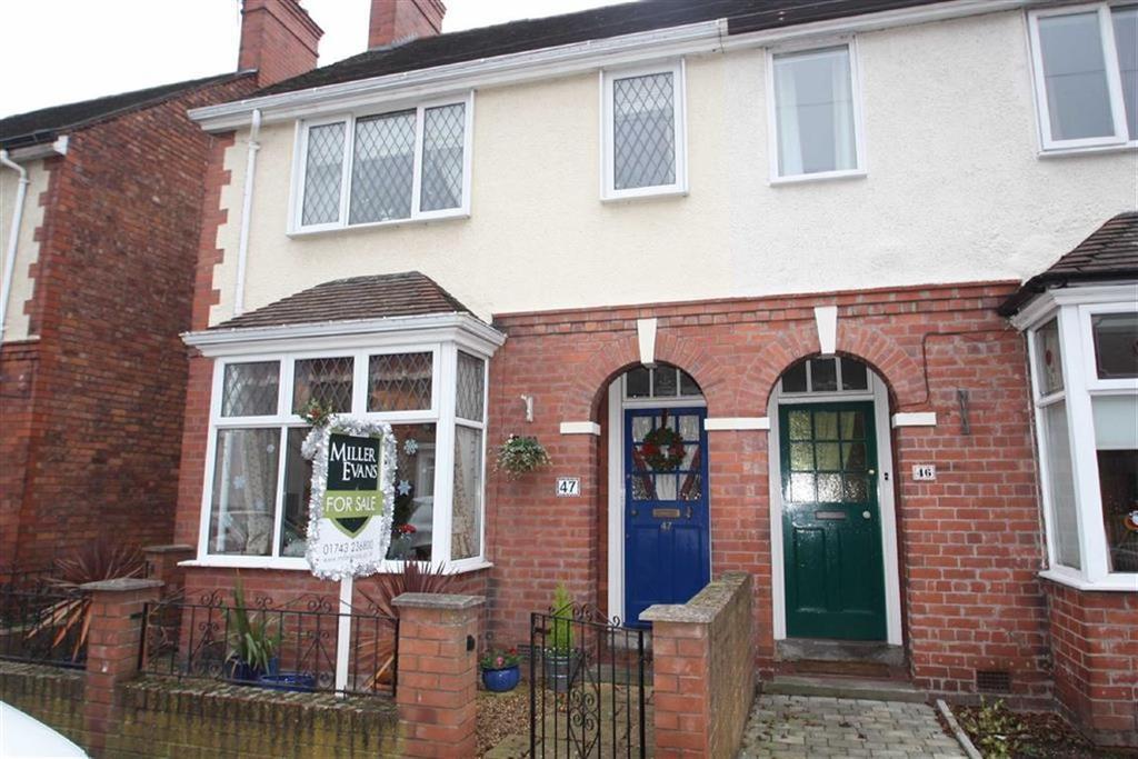 3 Bedrooms Semi Detached House for sale in Trinity Street, Belle Vue, Shrewsbury