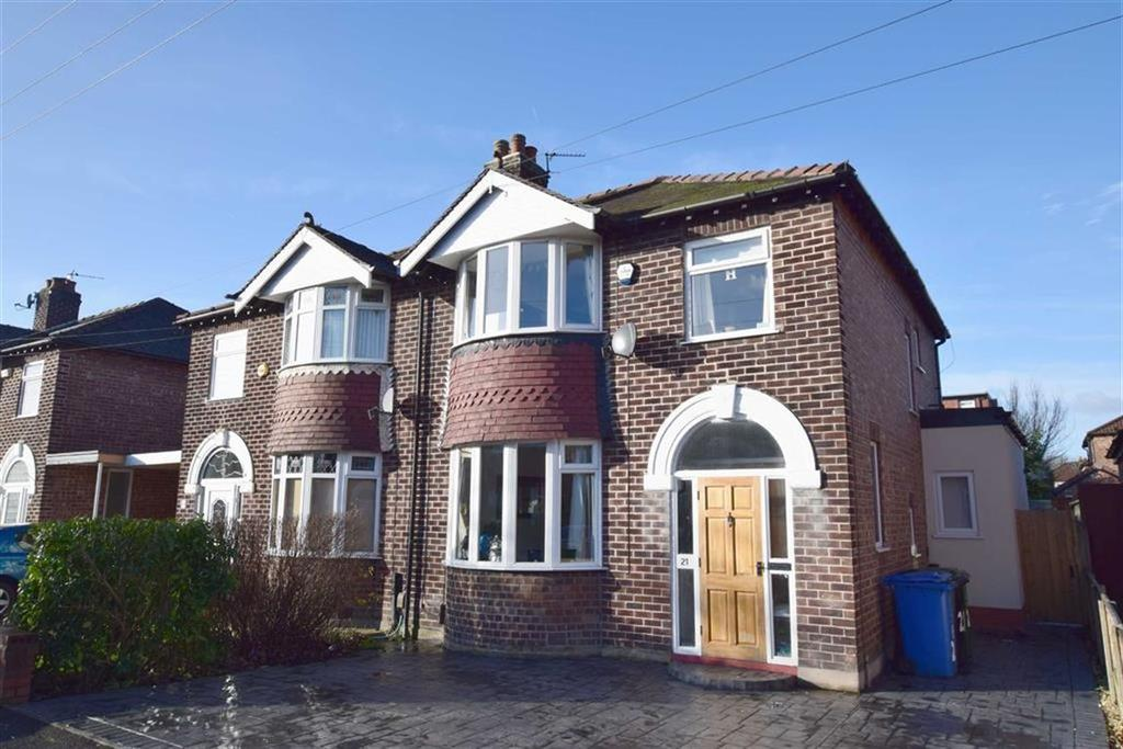 3 Bedrooms Semi Detached House for sale in Balmoral Drive, Timperley, Cheshire, WA14