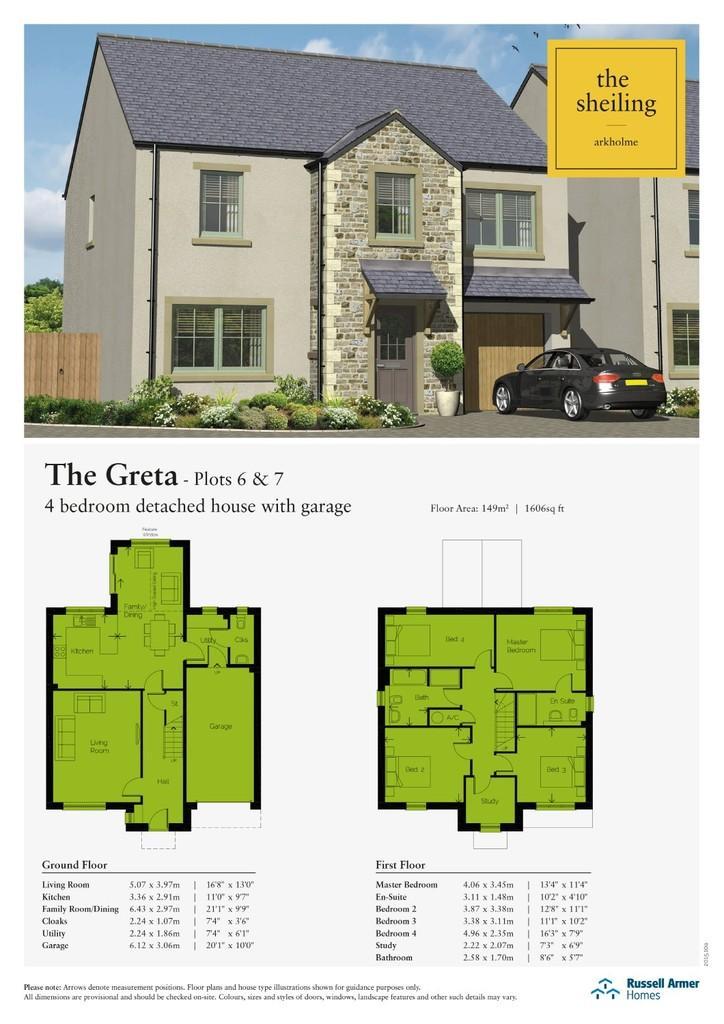 4 Bedrooms Detached House for sale in Plot 7 The Sheiling, Arkholme, Lune Valley, Lancashire LA6 1BA