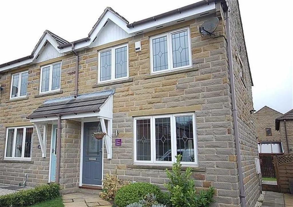 3 Bedrooms Semi Detached House for sale in Hawthorne Way, Shelley, Huddersfield, HD8