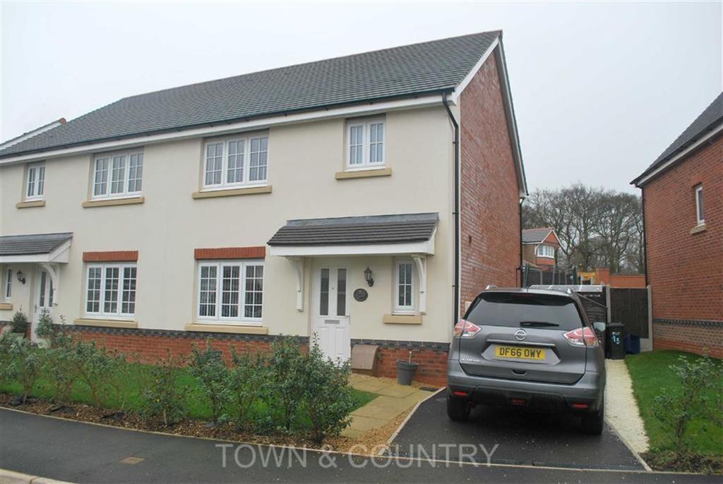 3 Bedrooms Semi Detached House for sale in Ffordd Pedrog, Oakenholt, Flint, Flintshire