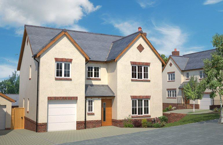 4 Bedrooms Detached House for sale in Plot 45 - The Bletchley, St Aubyn's Rise, Howden Court, Tiverton, EX16