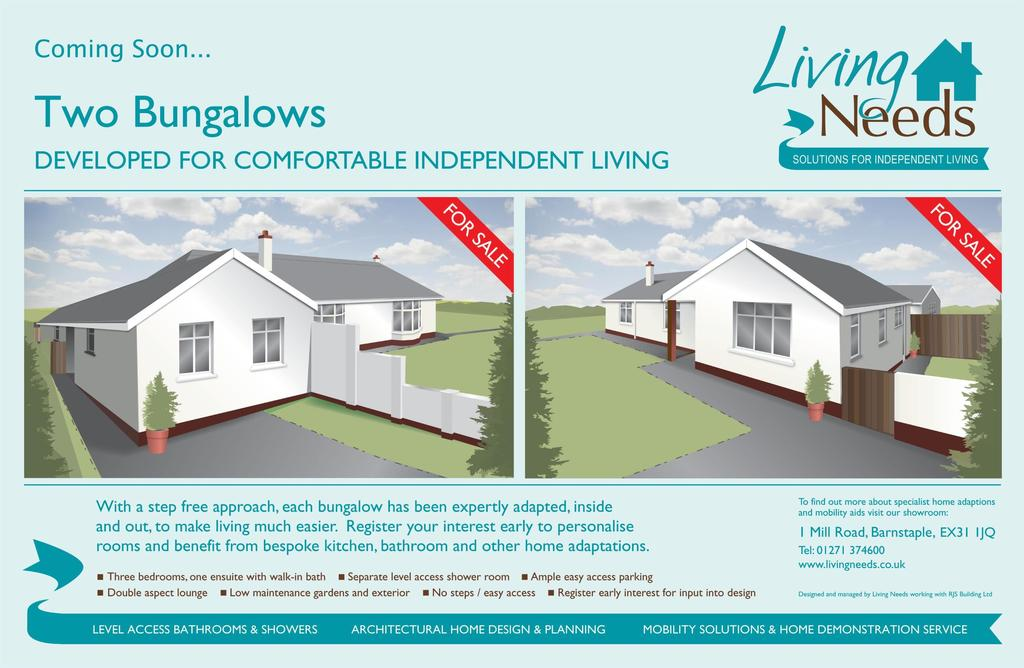 3 Bedrooms Bungalow for sale in Exeter Gate, South Molton