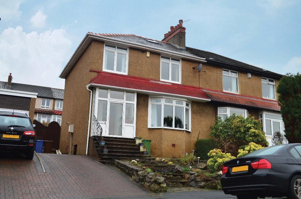 3 Bedrooms Semi Detached House for sale in Ashburton Road, Kelvindale, Glasgow, G12 0LZ