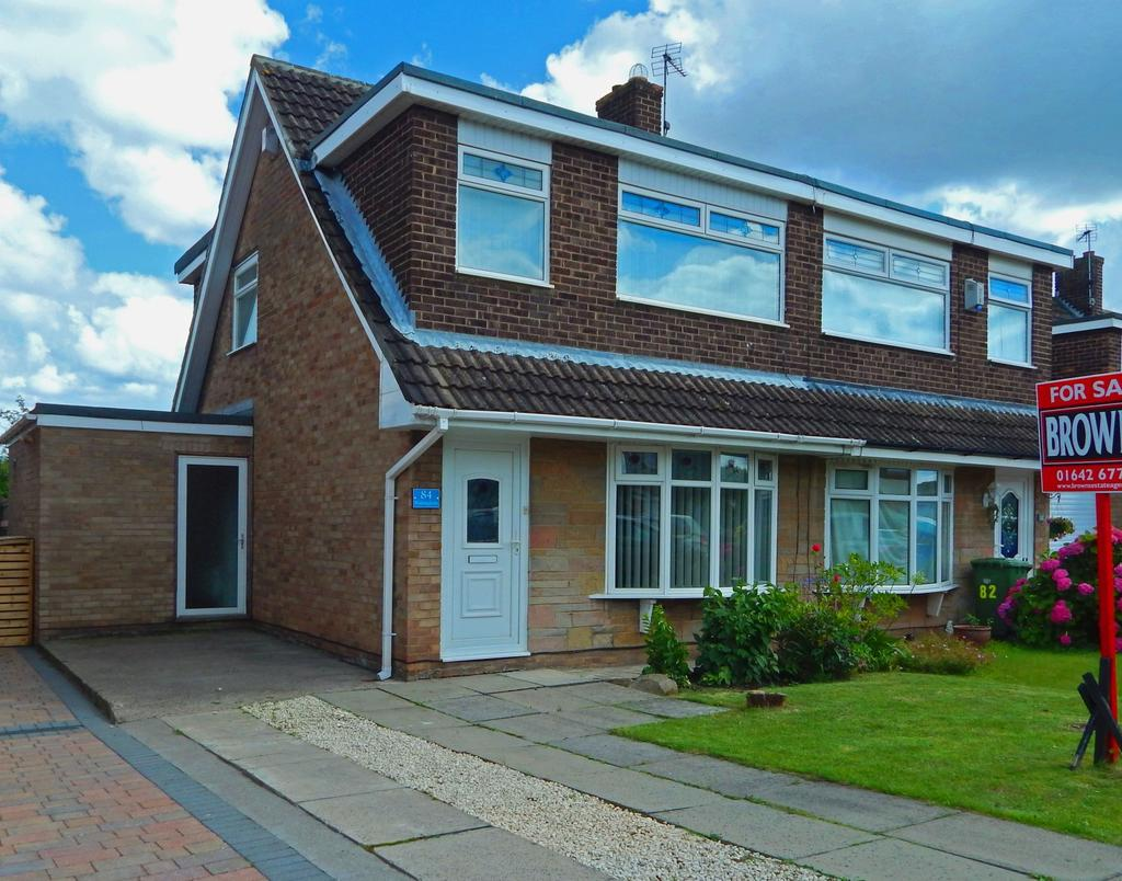 3 Bedrooms Semi Detached House for sale in Wolsingham Drive, Thornaby, Stockton-On-Tees, TS17