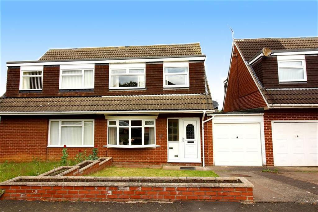 3 Bedrooms Semi Detached House for sale in Hersham Close, Newcastle Upon Tyne, NE3