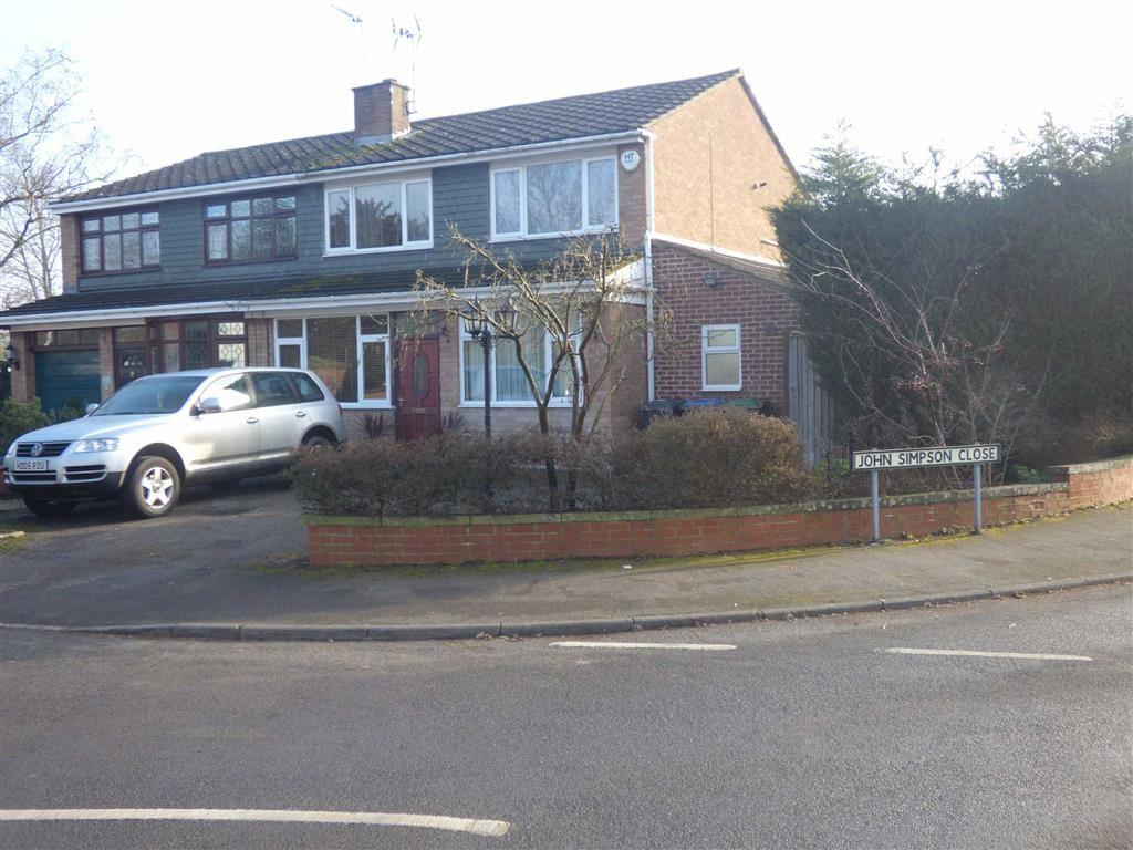 4 Bedrooms Semi Detached House for sale in John Simpson Close, Wolston
